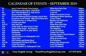 Indianapolis events September 2019