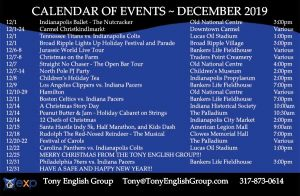 December events in Indianapolis